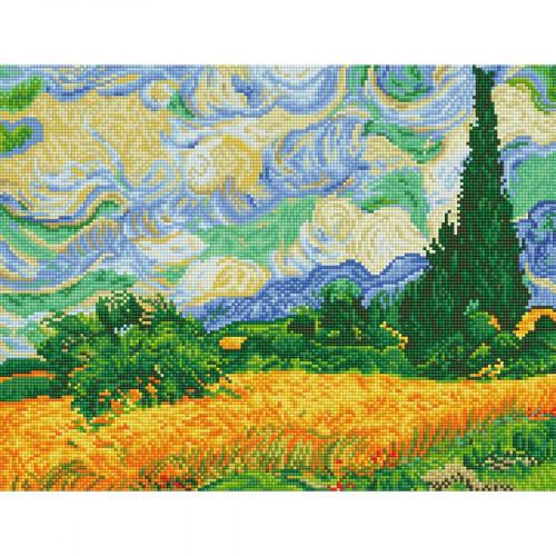 Kit tableau Strass Diamond Dotz Les champs de blé de Van Gogh