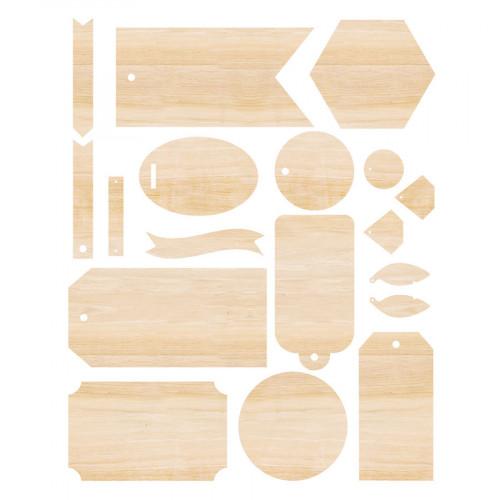 Etiquettes en bois Singe Quill - 18 pcs