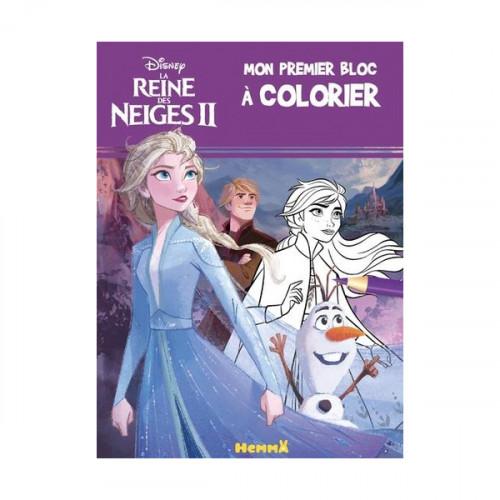 Disney La Reine des Neiges 2 Mon premier bloc à colorier