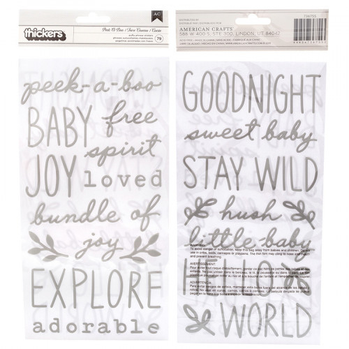 Peek-a-Boo You Puffy Stickers Phrases - 79 pcs