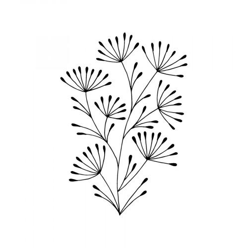 Tampon bois Gui - 3,7 x 5,3 cm