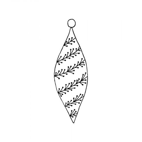 Tampon bois Boule ovale - 2,6 x 7,5 cm