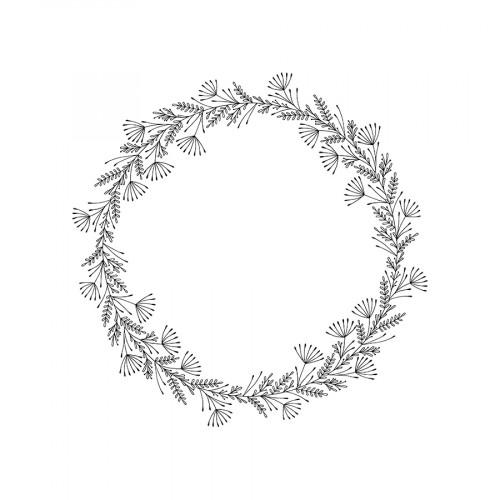 Tampon bois Couronne - 10 x 10 cm