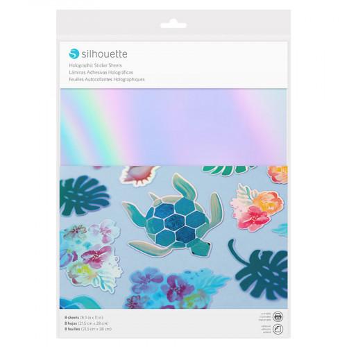 Matière autocollante et imprimable Effet holographique - 8 feuilles