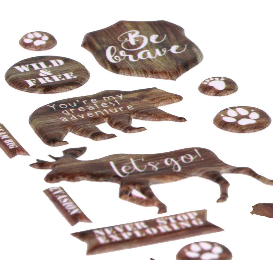 Stickers Puffy Bois Woodland
