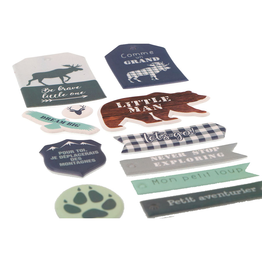 Stickers XL Puffy Woodland