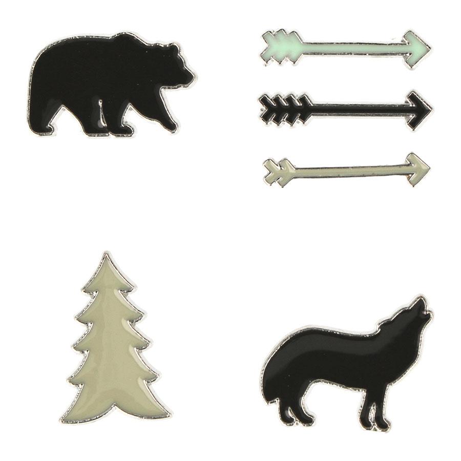Embellissements en métal Woodland - 4 pcs