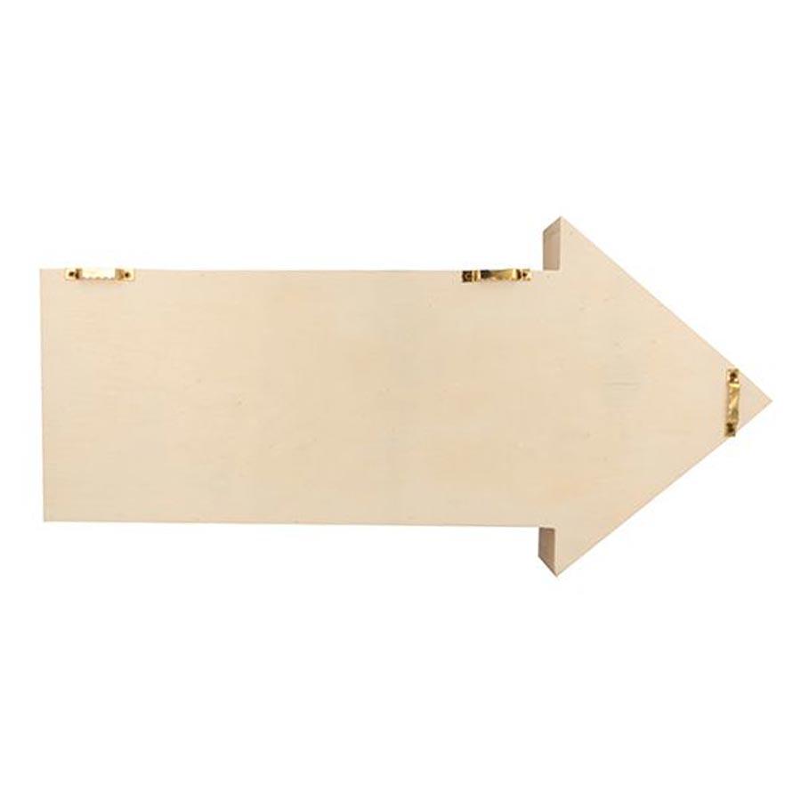 Etagère Flèche en bois - 40 x 20 x 7 cm