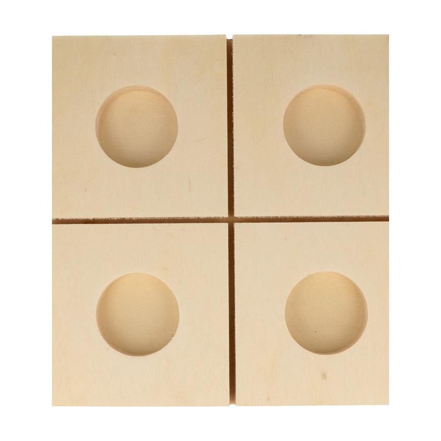 Bougeoir Sapin en bois - 20 x 32 x 27 cm