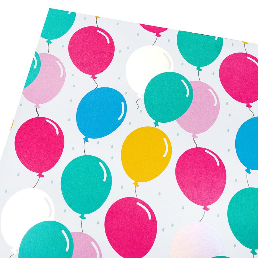 Poster Board Papier affiche Ballons d'anniversaire - 56 x 71 cm