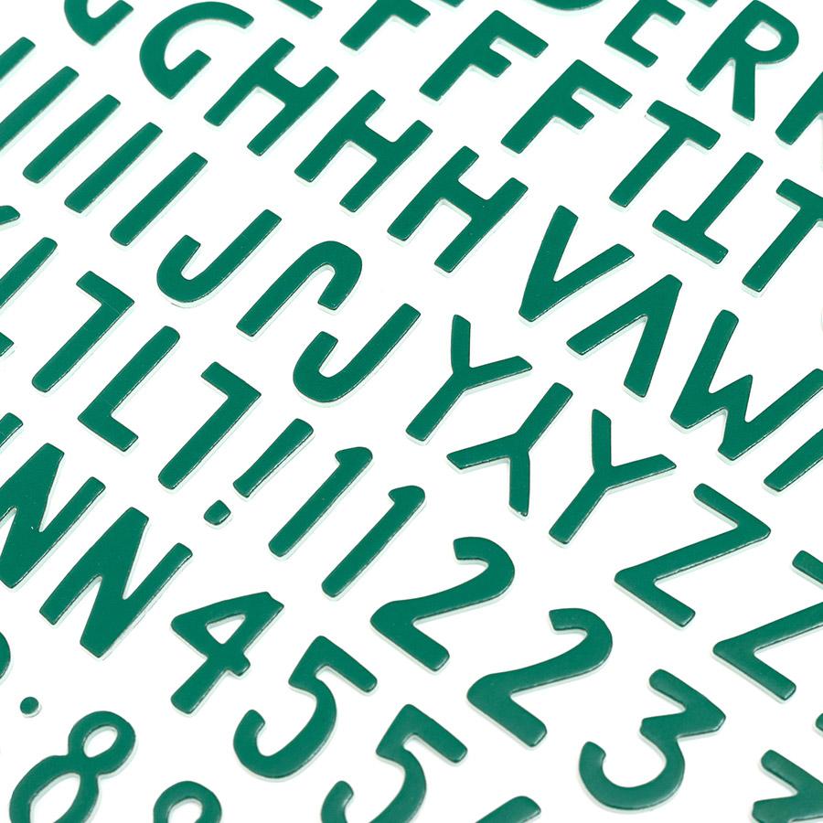 Alphabet Stickers en mousse verte - 133 pcs