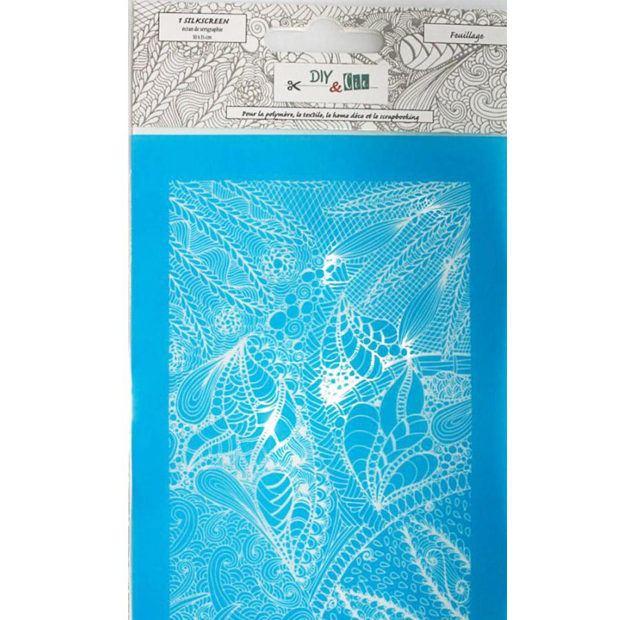 Pochoir Silkscreen Feuillages - 10 x 15 cm