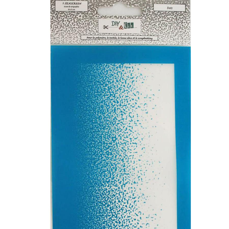 Pochoir Silkscreen Dots - 10 x 15 cm
