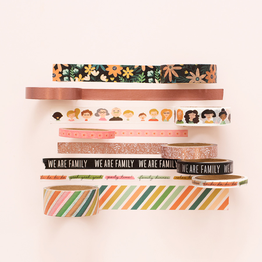 This is Family Washi Tape - 8 rouleaux