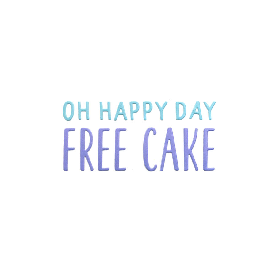 Happy Cake Day Puffy Stickers Phrases - 104 pcs