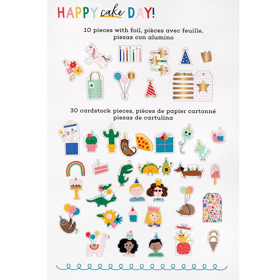 Happy Cake Day Formes découpées Motifs - 40 pcs