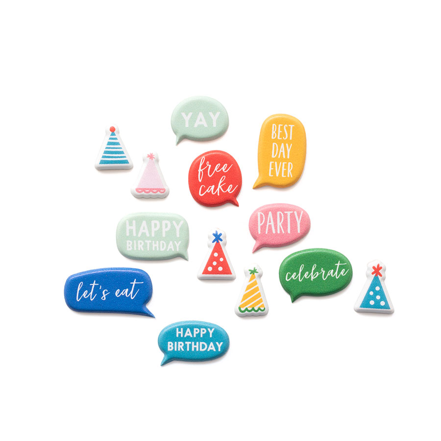 Happy Cake Day Puffy Stickers - 58 pcs
