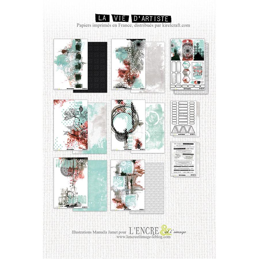 La vie d'artiste Kit de collection 21 x 30,5 cm