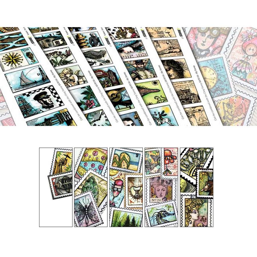 Tampons Cling Mon timbre personnalisé - 3 pcs