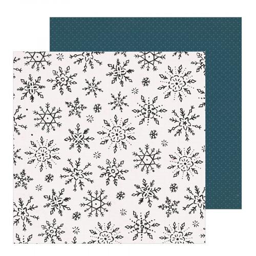 Snowflake Papier Winterscape