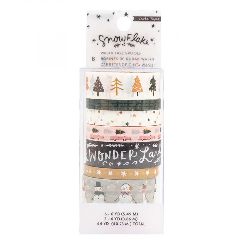 Snowflake Washi Tape - 8 rouleaux