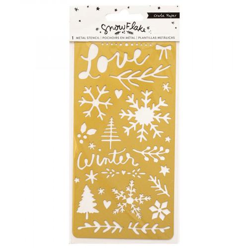 Snowflake Pochoir métal - 9,5 x 20 cm