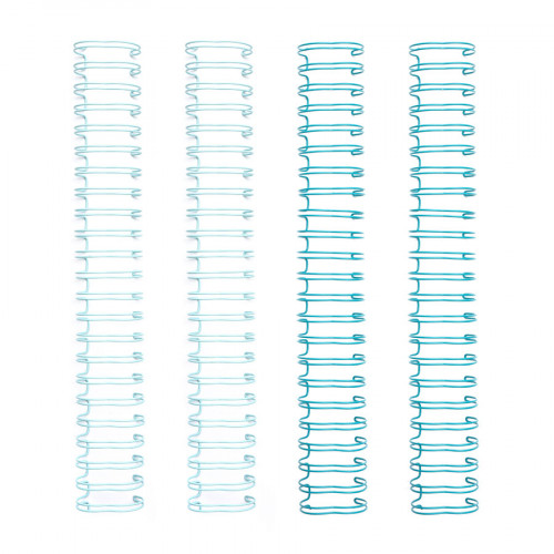 Spirales pour reliure mint 1,6 x 30,5 cm - 4 pcs
