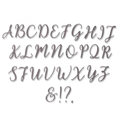 Thinlits Die Set Lettres majuscules ELLE - 28 pcs