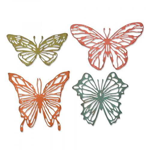 Thinlits Die Set Papillons esquissés - 4 pcs