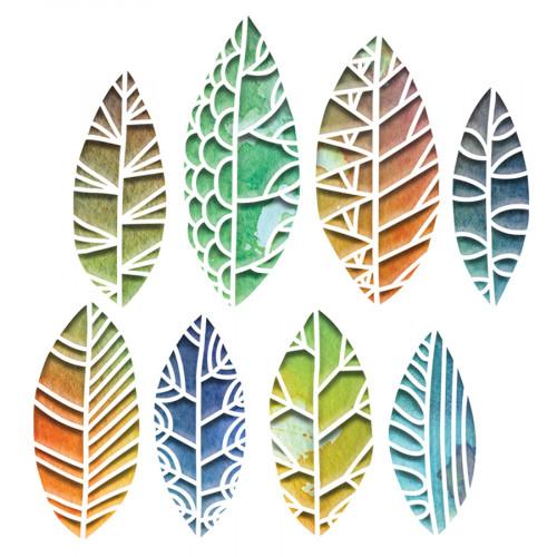 Thinlits Die Set Silhouettes de feuilles - 8 pcs
