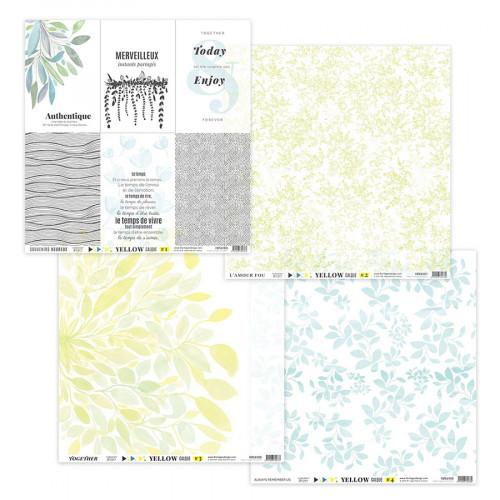 Yellow Kit papiers calques 30 x 30 cm