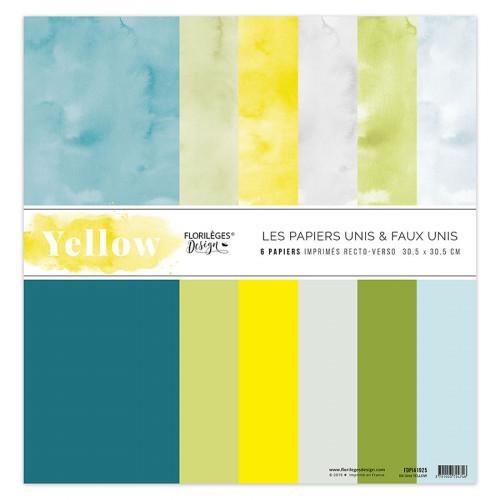 Yellow Kit papiers unis 30 x 30 cm