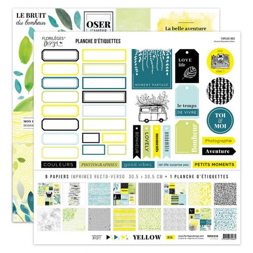 Yellow Kit papiers imprimés 30 x 30 cm