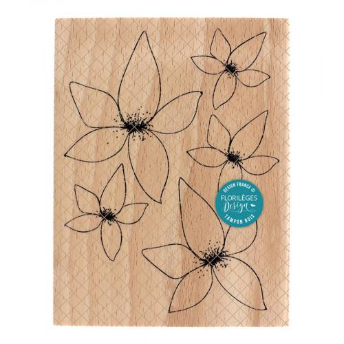 Tampon bois Floralies - 10 x 13 cm