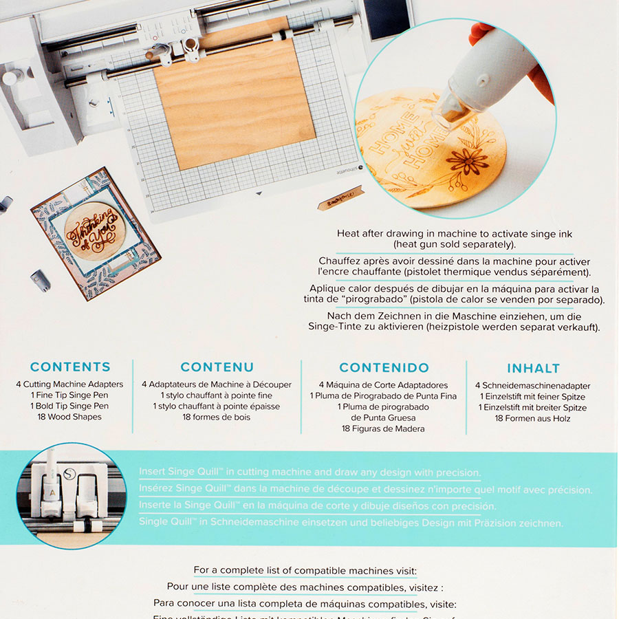 Kit de démarrage Singe Quill Kit (effet pyrogravure) pour machine de découpe électronique