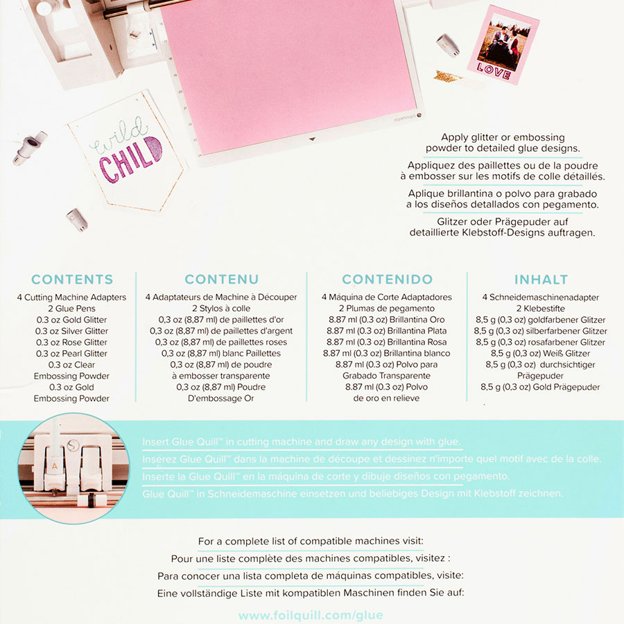 Kit de démarrage Glue Quill Kit (colle) pour machine de découpe électronique