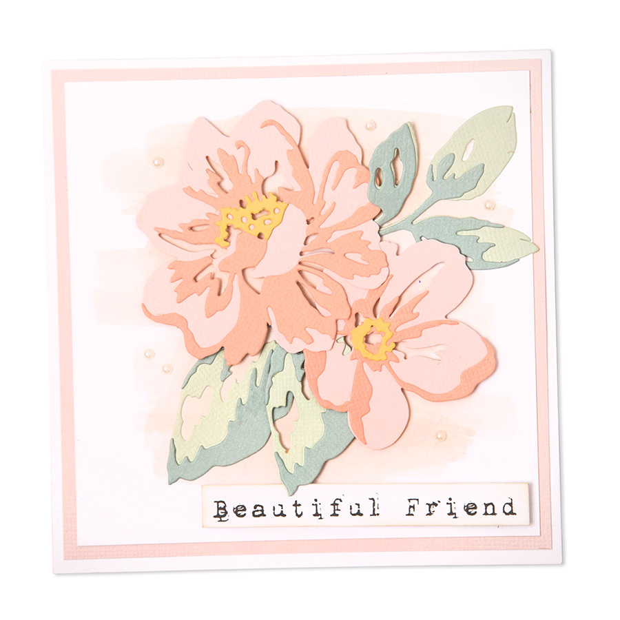 Thinlits Die Set Fleurs en plusieurs épaisseurs - 10 pcs