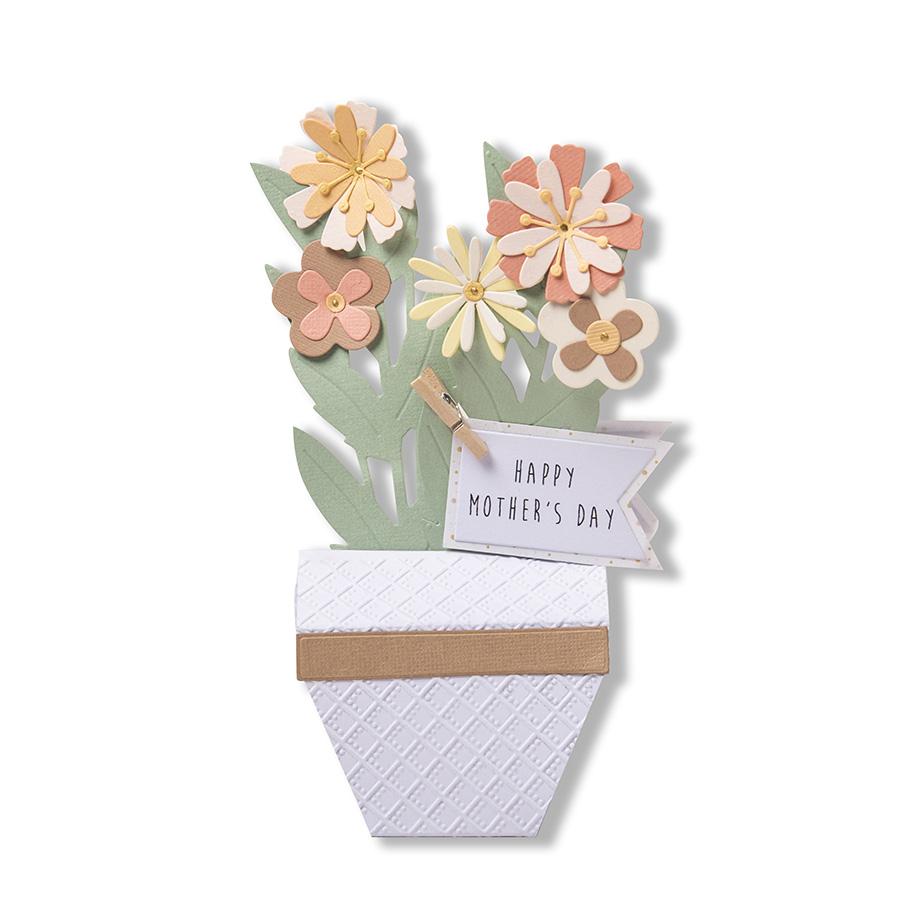 Thinlits Die Set Pot de fleurs 3D - 9 pcs