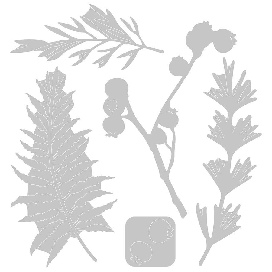 Thinlits Die Set Feuilles naturelles - 5 pcs