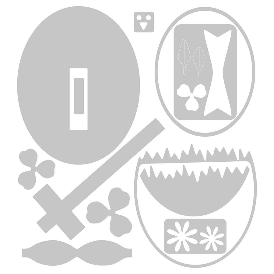 Thinlits Die Set Poussin dans son œuf - 12 pcs