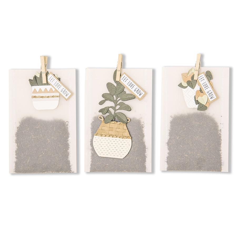 Thinlits Die Set Plantes en pots - 16 pcs