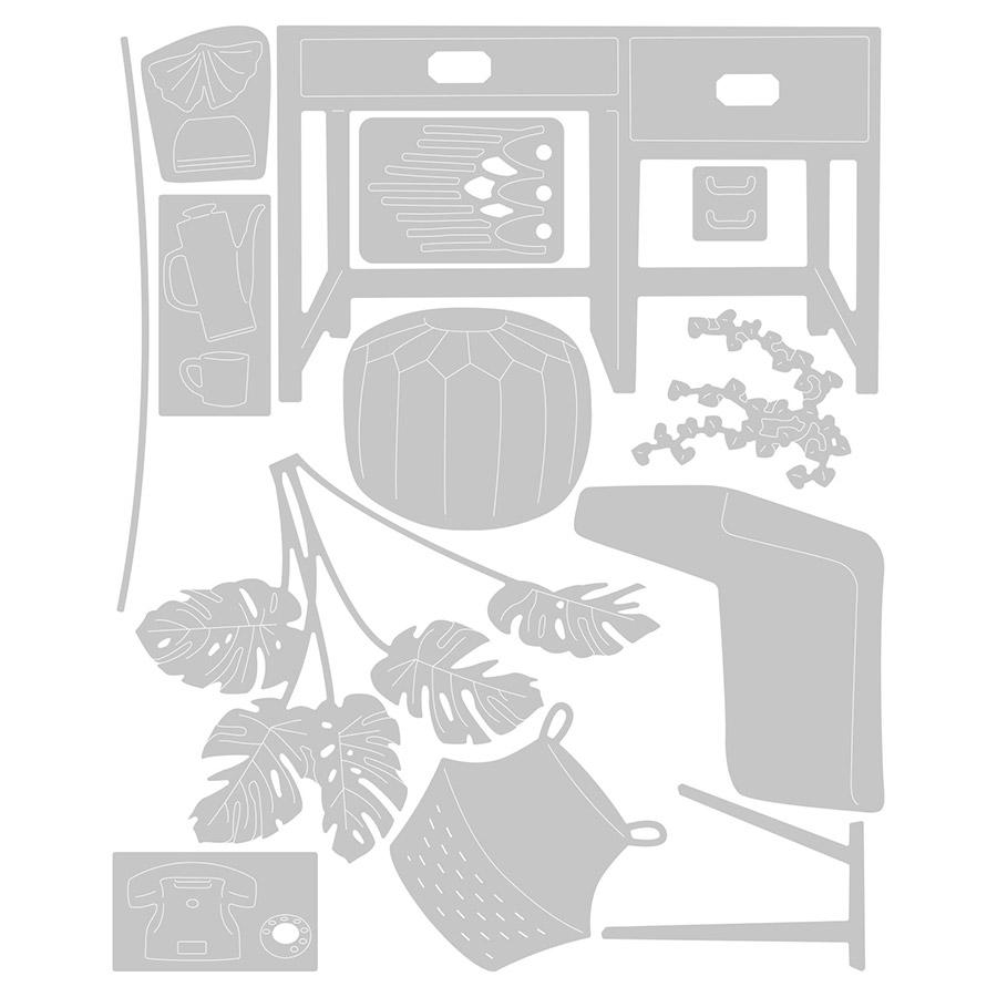 Thinlits Die Set Intérieurs urbains - 13 pcs