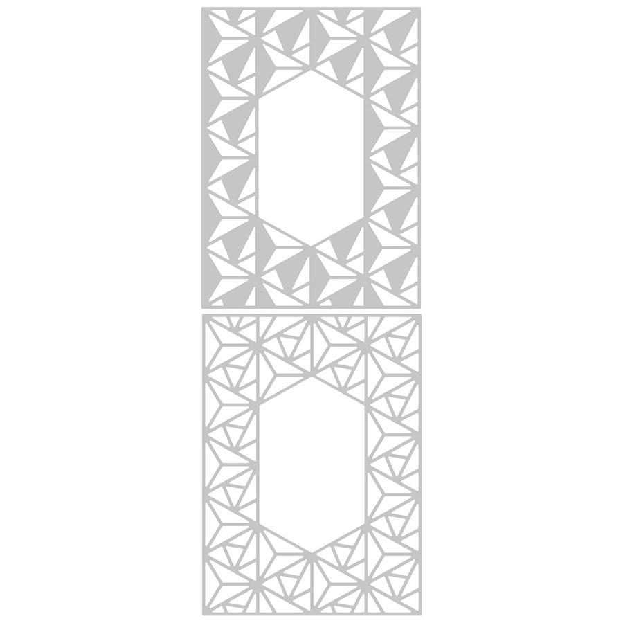 Thinlits Die Set Cadre bordure géo - 2 pcs