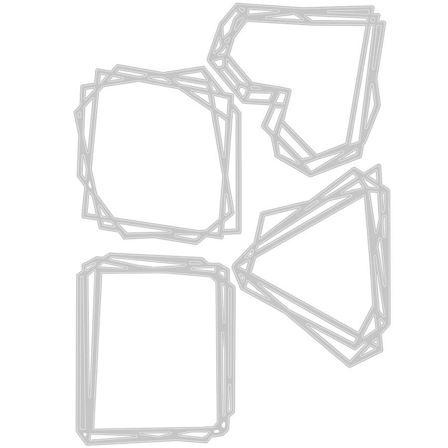 Thinlits Die Set Cadres géométriques - 4 pcs