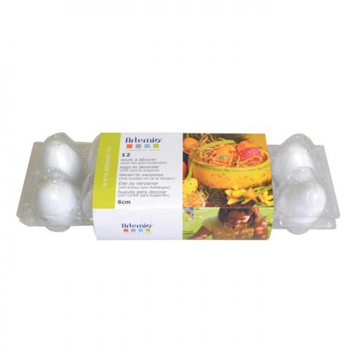 Œufs en plastique 6 cm - 12 pcs