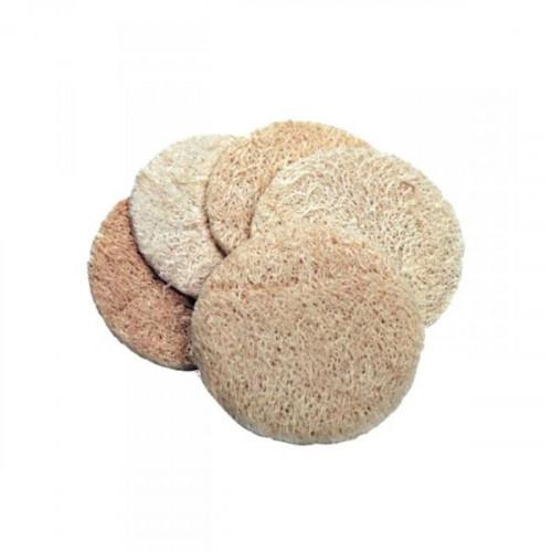 Disques exfoliants en LOOFAH (luffa) pour le visage 5 pcs
