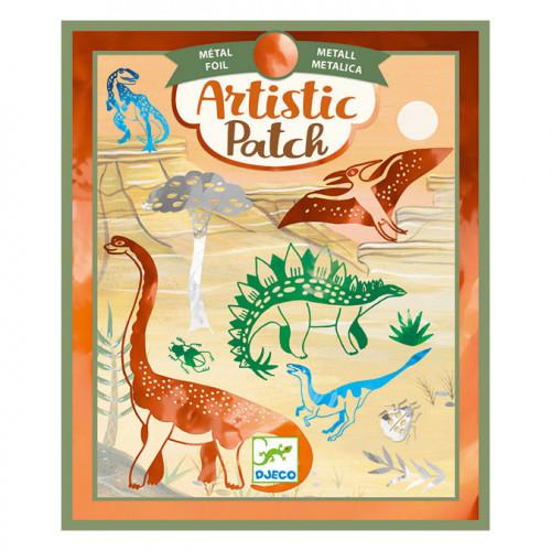 Collage Artistic Patch métallique Dinosaures