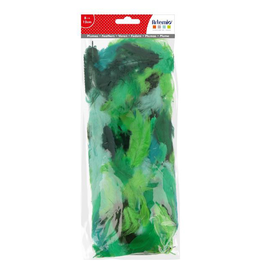 Plumes Tons verts 10 g