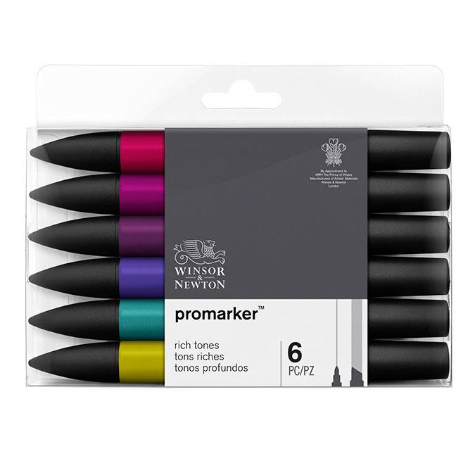 Promarker - Set de 6 marqueurs Tons riches