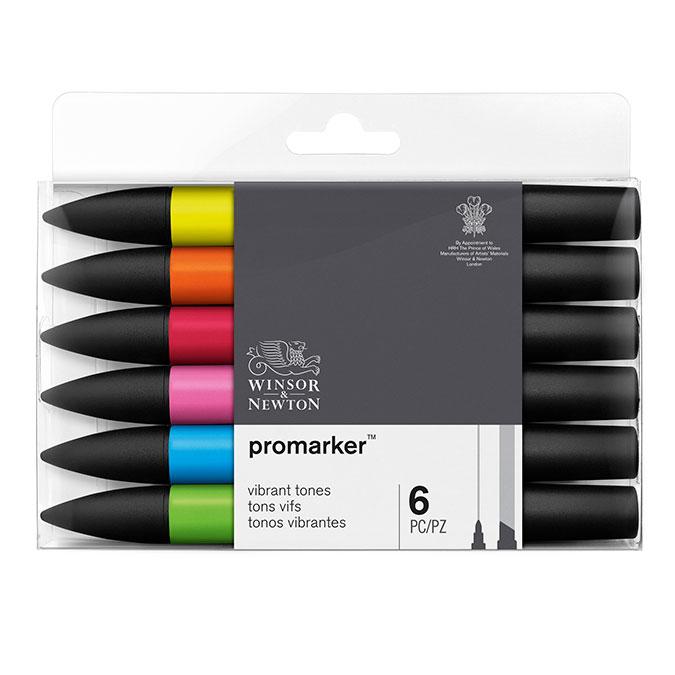 Promarker - Set de 6 marqueurs Tons vibrants